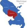 Map Martinique Bezirke Fort-de-France