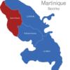 Map Martinique Bezirke Saint-Pierre
