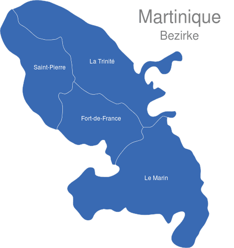 Martinique Bezirke