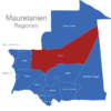 Map Mauretanien Regionen Adrar