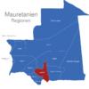 Map Mauretanien Regionen Assaba