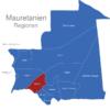 Map Mauretanien Regionen Brakna