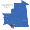 Map Mauretanien Regionen Gorgol