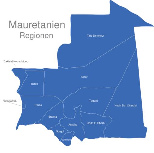 Mauretanien Regionen