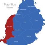 Map Mauritius Bezirke Black_River