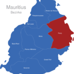 Map Mauritius Bezirke Flacq
