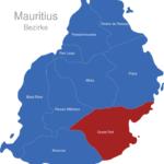 Map Mauritius Bezirke Grand_Port