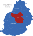 Map Mauritius Bezirke Moka