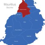 Map Mauritius Bezirke Pamplemousses