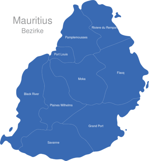 Mauritius Bezirke