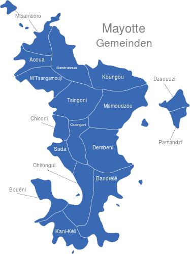 Mayotte Gemeinden