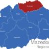 Map Mazedonien Statistische Regionen Nordosten