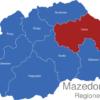 Map Mazedonien Statistische Regionen Osten