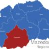 Map Mazedonien Statistische Regionen Pelagonien