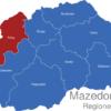 Map Mazedonien Statistische Regionen Polog