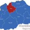 Map Mazedonien Statistische Regionen Skopje