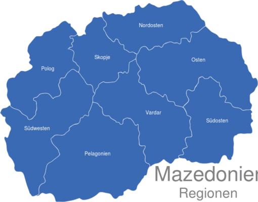 Mazedonien Statistische Regionen