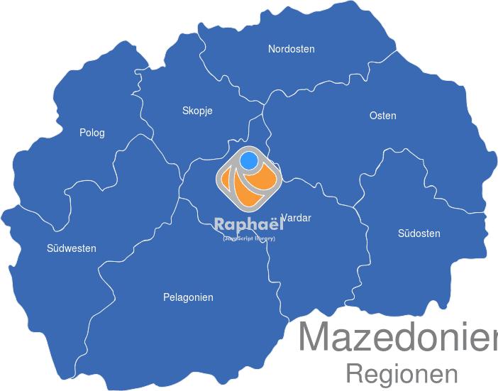 Mazedonien Regionen Interaktive Landkarte Image Maps De