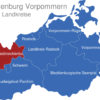 Map Mecklenburg Vorpommern Landkreise Nordwestmecklenburg