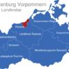 Map Mecklenburg Vorpommern Landkreise Rostock