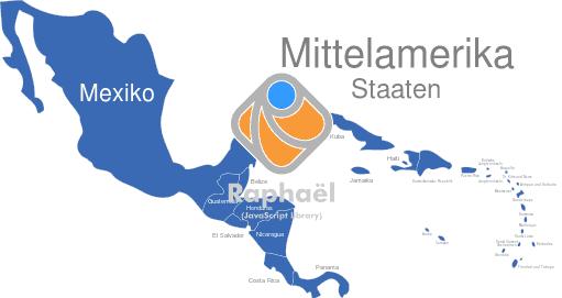 Mittelamerika Karte Staaten.Mittelamerika Länder