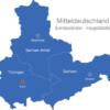 Map Mitteldeutschland Bundesländer Hauptstädte Erfurt