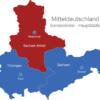 Map Mitteldeutschland Bundesländer Hauptstädte Sachsen_Anhalt