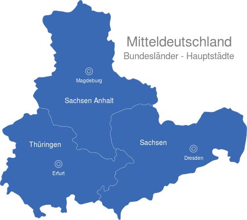 Mitteldeutschland Bundesländer Hauptstädte