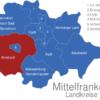 Map Mittelfranken Landkreise Amsbach