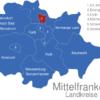 Map Mittelfranken Landkreise Erlangen_1_