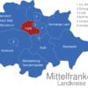 Map Mittelfranken Landkreise Fuerth_1_