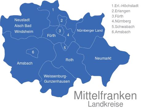 Mittelfranken Landkreise
