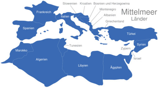 Mittelmeer Länder