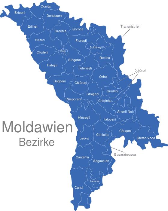 Moldawien Bezirke