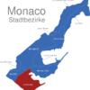 Map Monaco Stadtbezirke Fontvieille