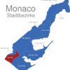 Map Monaco Stadtbezirke La_Colle