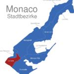 Map Monaco Stadtbezirke La_Colle