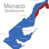 Map Monaco Stadtbezirke Larvotto