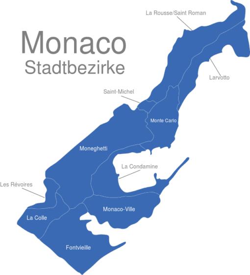 Monaco Stadtbezirke