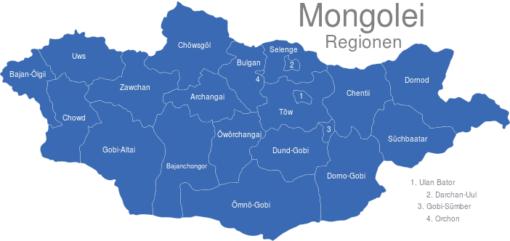 Mongolei Regionen
