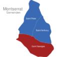 Map Montserrat Gemeinden Saint_Georges