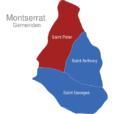 Map Montserrat Gemeinden Saint_Peter