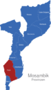 Map Mosambik Provinzen Gaza