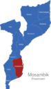 Map Mosambik Provinzen Inhambane