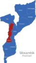 Map Mosambik Provinzen Manica