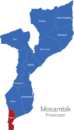 Map Mosambik Provinzen Maputo
