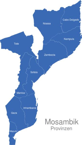 Mosambik Provinzen