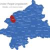 Map Münster Regierungsbezirk Ahaus