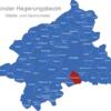 Map Münster Regierungsbezirk Ascheberg