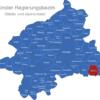 Map Münster Regierungsbezirk Beckum